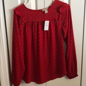 Beautiful red blouse new from loft